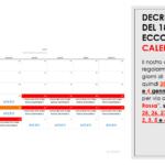 Decreto Natale: ecco il calendario in cui saremo aperti
